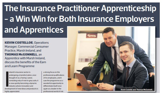 Insurance Practitioner Apprenticeship is a Win Win
