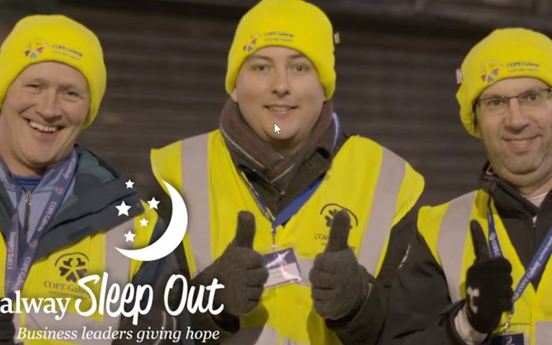Capturing the Vibe at the COPE Galway Sleep-out
